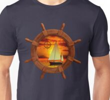 Sailboat Sunset Unisex T-Shirt