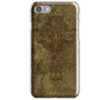 Celtic Cross And Celtic Knot Strips iPhone Case/Skin