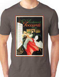 1920s Italian restaurant Paris ad Leonetto Cappiello Unisex T-Shirt