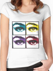 Graphic Eye Women's Fitted Scoop T-Shirt