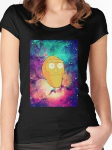 Morty Moon. Women's Fitted Scoop T-Shirt