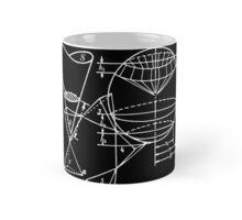Vintage Math Diagrams - white on black Mug