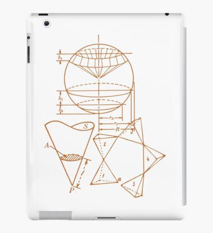 Vintage Math Diagrams - sepia iPad Case/Skin