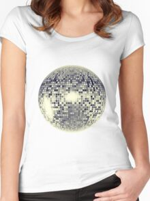 Disco Ball Women's Fitted Scoop T-Shirt