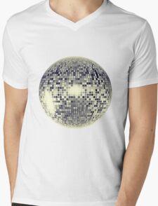 Disco Ball Mens V-Neck T-Shirt