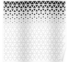 Triangle gradient grid pattern Poster