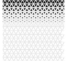 Triangle gradient grid pattern Photographic Print