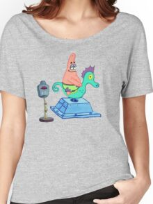 Patrick Riding A Seahorse Women's Relaxed Fit T-Shirt