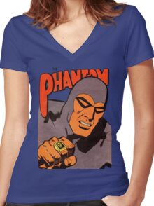 Phantom #10/redesign Women's Fitted V-Neck T-Shirt