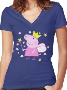Peppa Women's Fitted V-Neck T-Shirt