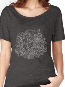 Doodle Summer Vacation Illustration Women's Relaxed Fit T-Shirt