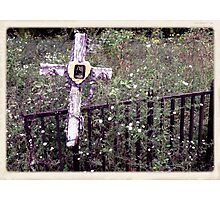 "'""THE CEMETERY, a Series', No. 11, Over the Fence""... prints and products Photographic Print"