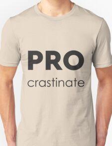 PROcrastinate Black on White T-Shirt