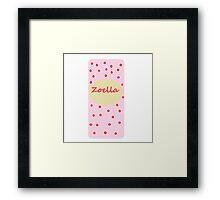 Fizz bar inspired zoella design . - zoella beauty Framed Print