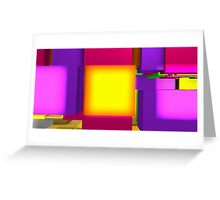 Geometric composition 2 Greeting Card