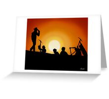 Indiana Jones Sunset Scene Greeting Card