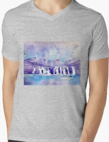 scottish highlands - waterfall Mens V-Neck T-Shirt