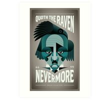 Edgar Allen Poe (The Raven) Art Print