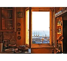 out of the yellow kitchen Photographic Print