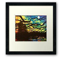 Night Pines Framed Print