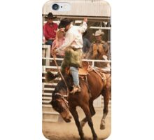 Rodeo Cowboy Riding a Wild Horse iPhone Case/Skin