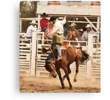 Rodeo Cowboy Riding a Wild Horse Canvas Print