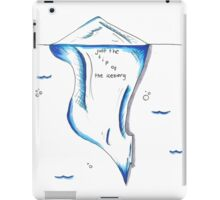Just The Tip of the Iceberg Doodle iPad Case/Skin