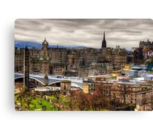 Grey Old Town Canvas Print
