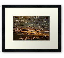 Dawn Water 'Whitewash' Framed Print