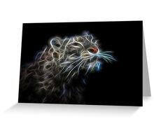 Glowing Snow Leopard #2 Greeting Card
