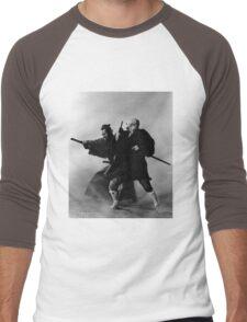 Yojimbo vs. Zatoichi Men's Baseball ¾ T-Shirt