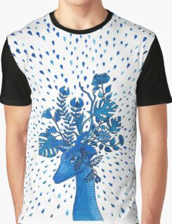 Flowery fawn  Graphic T-Shirt