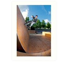 BMX Bike Stunt Wall Ride Art Print