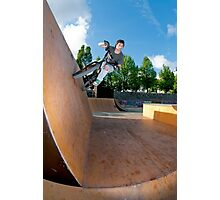 BMX Bike Stunt Wall Ride Photographic Print
