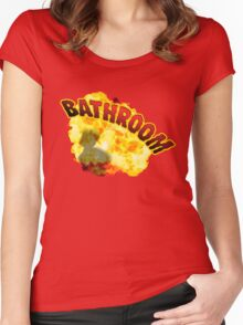 BATHROOM!!! Women's Fitted Scoop T-Shirt