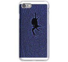 black spider -blue web iPhone Case/Skin