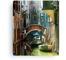 Pictorial Venice - timeless perspective  Canvas Print