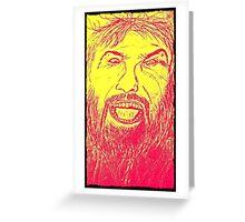 angry man Greeting Card