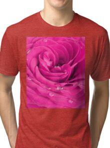 Pink rose Tri-blend T-Shirt