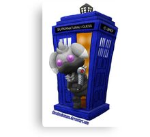 The Espurr Winter Doctor Soldier Canvas Print