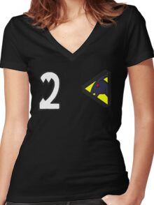 Dino Charge/Kyoryuger Black Women's Fitted V-Neck T-Shirt