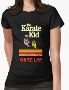 Karate Kid Bruce Lee Kung Fu Womens Fitted T-Shirt