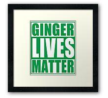 St Patrick's Day Ginger Lives Matter Framed Print