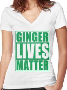 St Patrick's Day Ginger Lives Matter Women's Fitted V-Neck T-Shirt