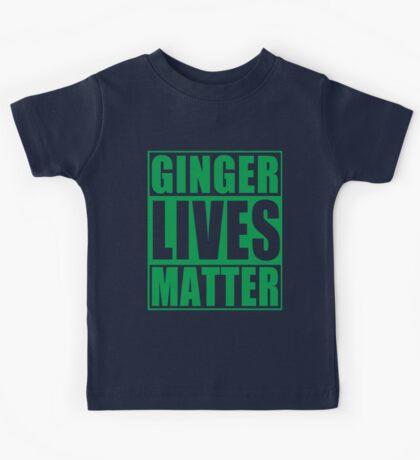 St Patrick's Day Ginger Lives Matter Kids Tee