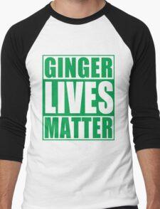 St Patrick's Day Ginger Lives Matter Men's Baseball ¾ T-Shirt