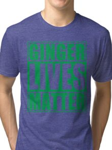 St Patrick's Day Ginger Lives Matter Tri-blend T-Shirt