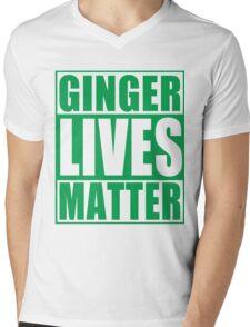 St Patrick's Day Ginger Lives Matter Mens V-Neck T-Shirt