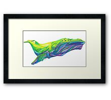 Whale in mind Framed Print