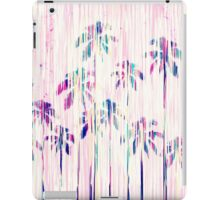Girly Pink Teal Watercolor Dripping Palm Trees iPad Case/Skin